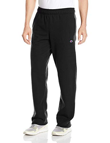Champion Men's Powerblend Open Bottom Fleece Pant, Black, - Training Fleece England