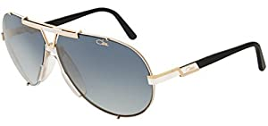 Cazal 909 Sunglasses 332SG White-Gold/Rose-Brown Flash 70MM