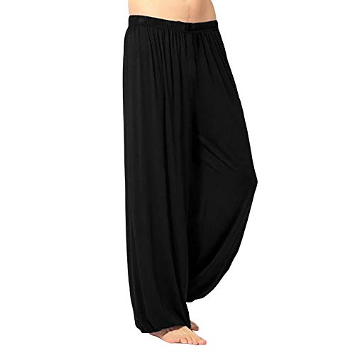 iYBUIA Men's Super Soft Modal Spandex Harem Yoga Pilates Pants 4 Colors -