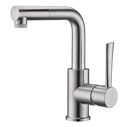 (Bar & Prep Sink Faucet, Pull Out Bathroom Faucet in Brush Nickel, Wet & Mini Bar Faucet)
