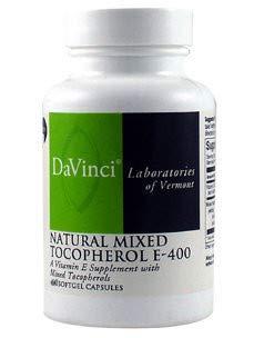 Natural Mixed Tocopherol E 400 60 Softgels