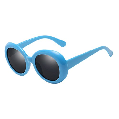 lunettes Protection Unisex Blue Women UV amp;Gray Style Mode soleil for lunettes Round Men Qualité Zhhlinyuan Étui Sunglasses de à 400 Uqt10xUHwT