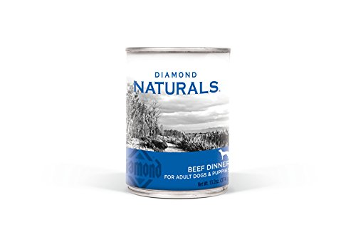 Diamond Naturals Real Meat Recipe Premium Canned Wet Pate Dog Food With Real Beef, 13.2Oz Case Of 12