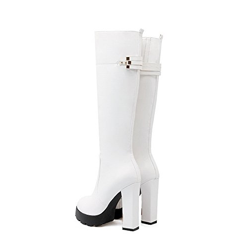 1TO9 Womens Platform Boots Zipper Urethane Boots White OZrRHF6s