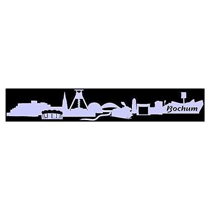 Skyline4u Aufkleber Bochum Skyline Mit Sehenswürdigkeiten In 8 Größen Und 25 Farben 100x157cm Flieder