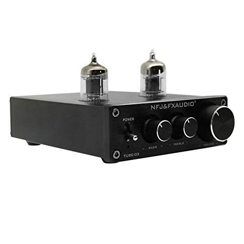 Docooler FX-Audio Mini HiFi Audio voorversterker 6K4 versterker ventiel buffer treble bass instelling RCA voorversterker…