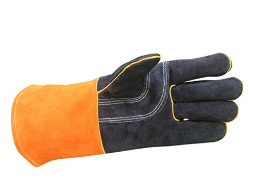 SPP PANDA BBQ Oven Microwave Oven Gloves High Temperature Resistant Electric Welding Kitchen Protection Labor Protection Glove Length 35cm by SPP PANDA (Image #1)
