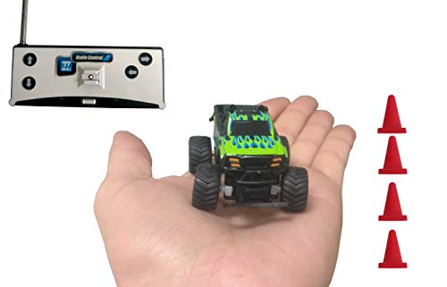 Ideas In Life Mini RC Car Baja Racer – Remote Control Nano Racing with Radio Remote Small Kids Toy Off Road Action Styles Colors Vary
