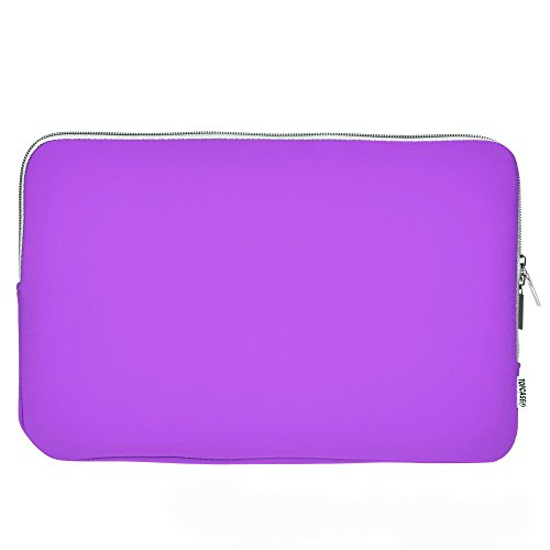 """TOP CASE - Zipper Sleeve Bag Cover Compatible with All 12"""" Apple MacBook/Chromebook / Microsoft Surface Pro/Laptop and Notebook with TOP CASE Logo Mouse Pad - Purple"""