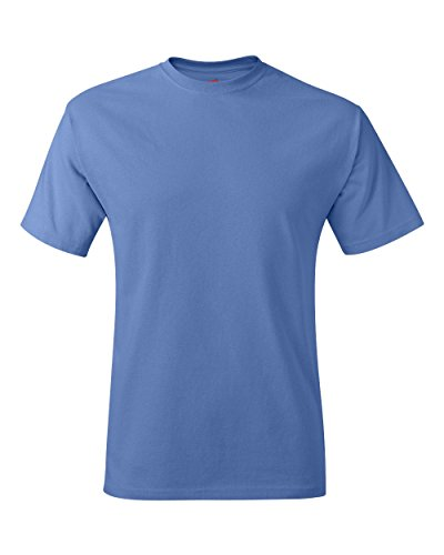 Hanes Blue Oxford (Hanes mens 6.1 oz. Tagless T-Shirt(5250)-Carolina Blue-XL)
