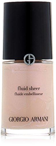 Giorgio Armani Fluid Sheer, No. 7 Pale Shimmering Rose, 1 Ounce (Armani Sheer Fluid)
