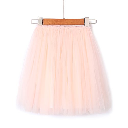 Flofallzique Tulle Tutu Skirts for 1-12 Years Old Girls Dancing Party Toddler Clothes(6, Pink -