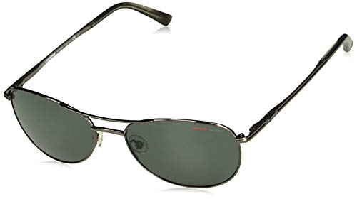 Carrera Men's Ca 928/s Polarized Aviator Sunglasses, Shiny Gunmetal, 55 mm