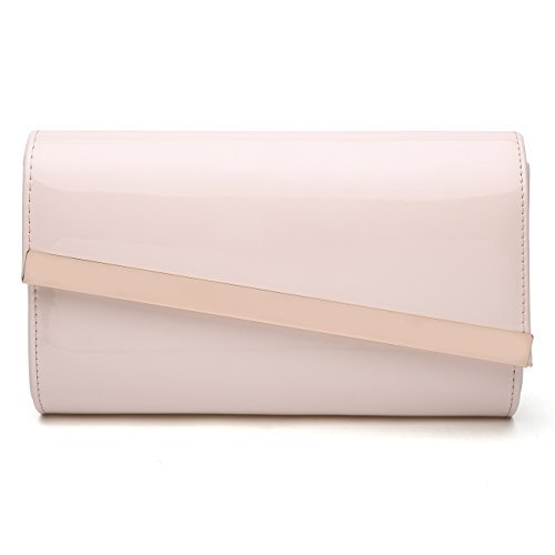 Quilted Patent Leather Clutch - 7