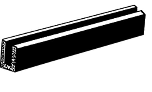(C.R. LAURENCE AV440A CRL Glass and Acrylic Setting Rubber Channel for 1/8