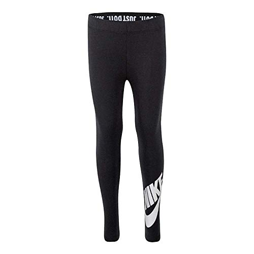 Nike Girls' Just Do It Black Leggings (Small) (Girls Nike Sweatpants)