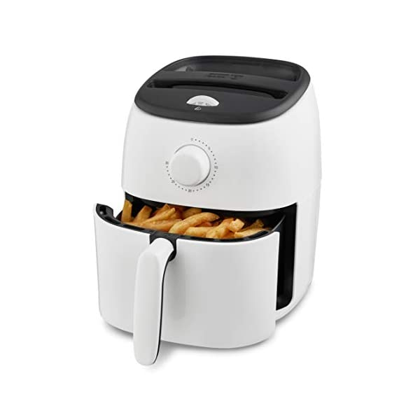 Dash DCAF200GBWH02 Tasti Crisp Electric Air Fryer Oven Cooker with Temperature Control, Non-stick Fry Basket, Recipe…