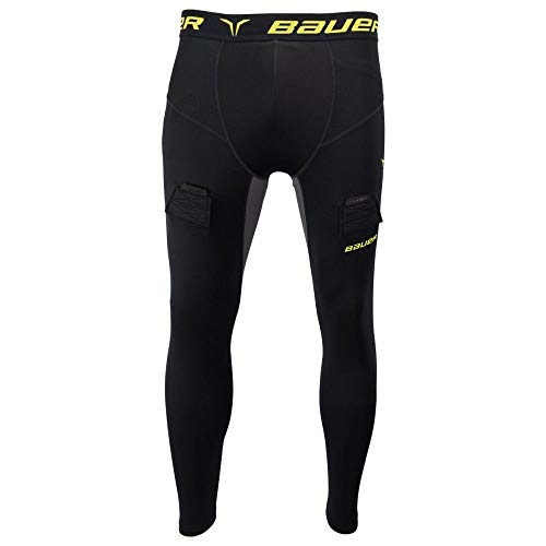 Bauer Premium Compression Jock Pant with Cup, Youth XS
