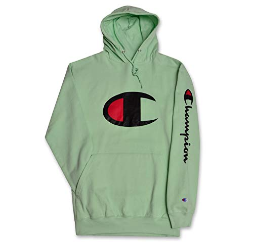 Champion Big and Tall Mens Fleece Pullover Hoodie with Big C Logo New Mint 4X