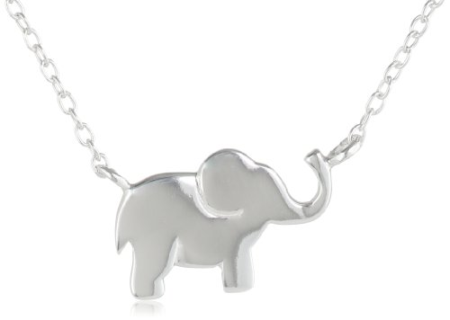 Sterling Silver Elephant Necklace, 18