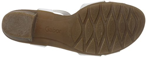 Blanco Weiss Shoes Gabor Ice con Silber para Pulsera Casual Mujer Sandalia 1Tqw04p