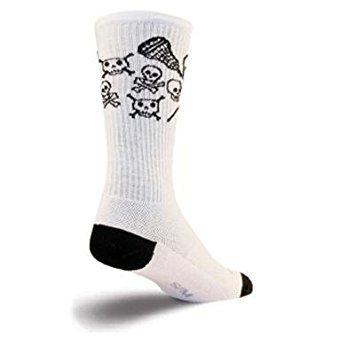 c9278790fdc8d Amazon.com : SockGuy Crew 8in LAX Skull Lacrosse Socks - White - L ...