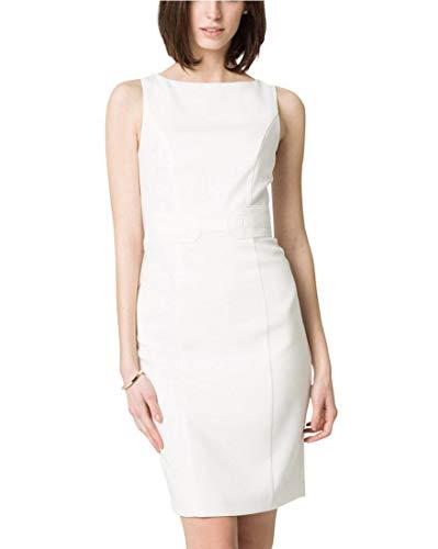LE CHÂTEAU Women's Double Weave Belted Shift Dress,S,Off ()