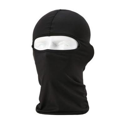 6 in 1 Thermal Fleece Balaclava Hood Police Swat Ski Bike Wind Stopper Face Mask (Black-1)