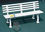 Tennis Court Seating - Har Tru Courtsider Court Bench, WHITE