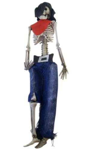 Hanging Skeleton Decoration - Skeleton Cowboy Halloween Decoration
