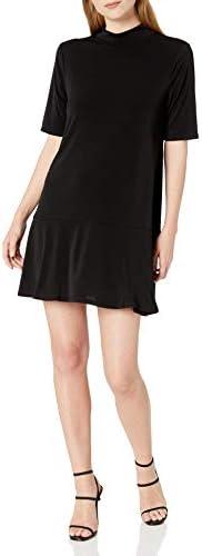 BCBGeneration 여성용 모크 넥 드롭 웨이스트 드레스 / BCBGeneration 여성용 모크 넥 드롭 웨이스트 드레스