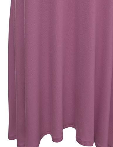 Tank Spaghetti Women's Tunic Dress Awdsd0612 Basic NINEXIS Cami mauve Strap wR4ScqA