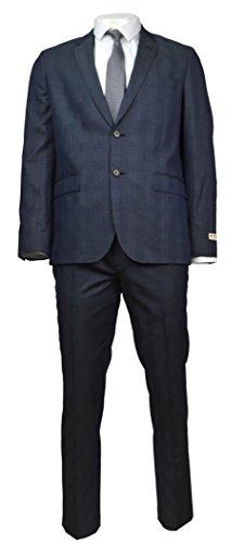 Brooks Brothers Red Fleece Men's Cotton/Wool Blend Two Piece Suit Blue Plaid 44R 36W x 32L