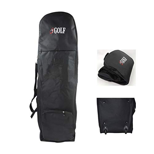 PLAYEAGLE Golf Travel Bag Nylon Golf Bag Shockproof Thickening Pad Golf Travel Case Golf Travel Bag with Wheels for Men and Women
