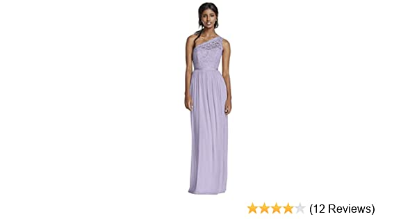 bf934f72691 Long One Shoulder Lace Bridesmaid Dress Style F17063 at Amazon Women s  Clothing store