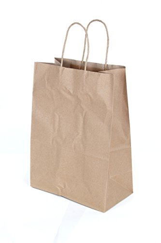 CucinaPrime Paper Retail Gift Bags with Rope Handles 10 x 5 x 13 inches, 25 Count ()