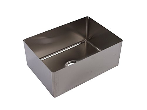Tarrison SB2424146 Heavy Duty 16 Gauge Stainless Steel OEM Coved Centre Drain Sink Bowl with Pot Sink, 24