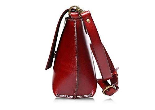 Willsego A Tracolla Borsa Tempo In Pelle Libero Chocolate colore Rosso Donna Spalla Da Dimensione Per qrrIt