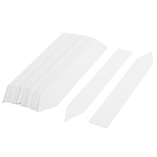uxcell Plastic Household Garden Plant Seeds Name Marking Tag Label 3cm Width 50 Pcs White by uxcell