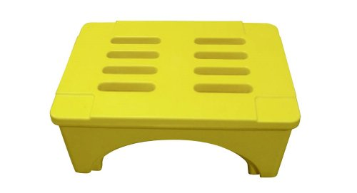 Forte Products 8002533 SureStack Plastic Dunnage and Storage Rack, 2000 Lb. Load Capacity, 36'' L x 22'' W x 12'' H, Yellow by Forte Products