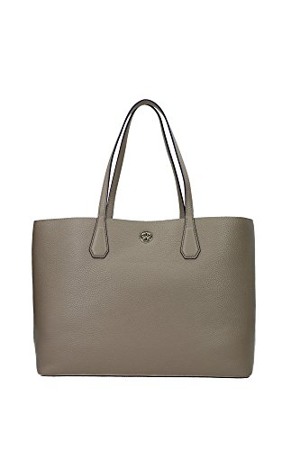 Tory Burch Perry Leather Tote Bag, French Gray/Purple - Bag Purple Tory Burch
