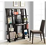 Altra Ladder Desk and Bookcase, Espresso Finish by Altra