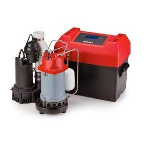 (Ridgid 47318 500RSS 1/2 HP Sump Pump System with Battery Backup, Advanced Notification and 12-volt Backup Pump)