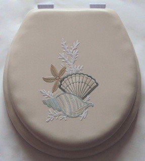 UNIWARE BT0711-17'' Soft Embroidery Toilet Seat (Beige) by Uniware
