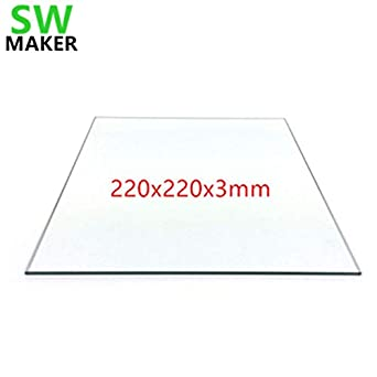 3D Printer Borosilicate Glass Build Plate for MK2 Wanhao ANET Prusa Creality etc