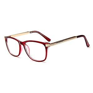 GAMT Unisex Vintage Square Full Frame Eye Glasses Red