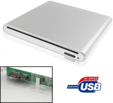 RUNNA Durable Caja de Unidad inhalada para Puerto SATA con Puerto de CD/DVD USB 12.7 mm Externo, Plateado (Plata) (Color : Silver): Amazon.es: Hogar