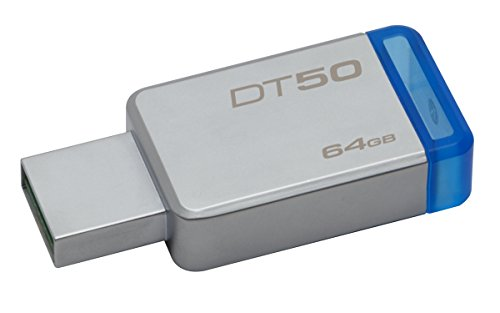 Kingston DataTraveler 64GB USB 3.1 Flash Drive Blue DT50/64GB
