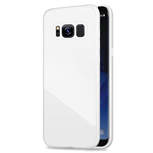 Galaxy S8 Plus Jelly Case, ANLEY Candy Fusion Series - [Shock Absorption] Classic Jelly Silicone Case Soft Cover for Samsung Galaxy S8 Plus (Snow White) + Free Ultra Clear Screen Protector