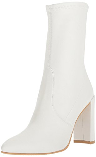 (Stuart Weitzman Women's Clinger Ankle Boot, Snow Plonge Stretch, 8 Medium US)